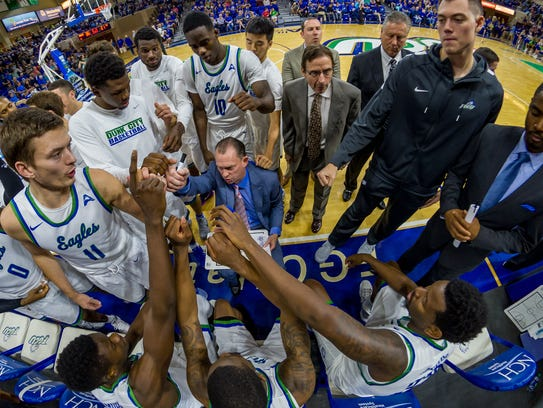 Joe Dooley led FGCU to two NCAA tournament berths in his five seasons with the Eagles. Dooley is heading back to East Carolina, where he led the Pirates from 1995-99.