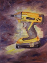 """""""My Favorite Drill,"""" an oil painting by Dorothy Turk."""