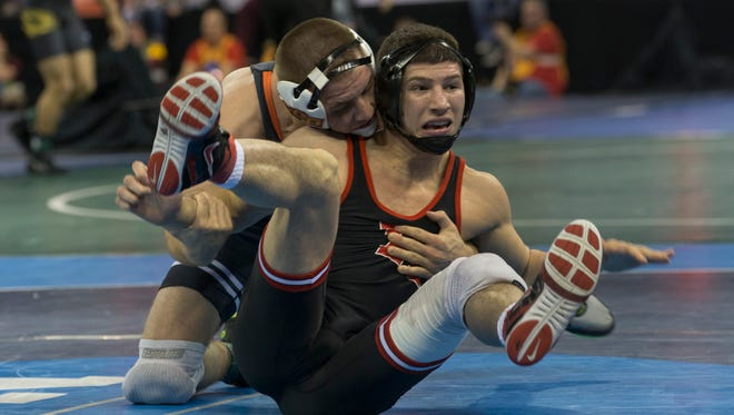 Rutgers wrestling star Anthony Ashnault became an All-American on Friday but saw his national title hopes dashed.