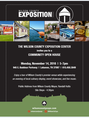 The Wilson County Exposition Center will open with a community open house Nov. 14, 2016.