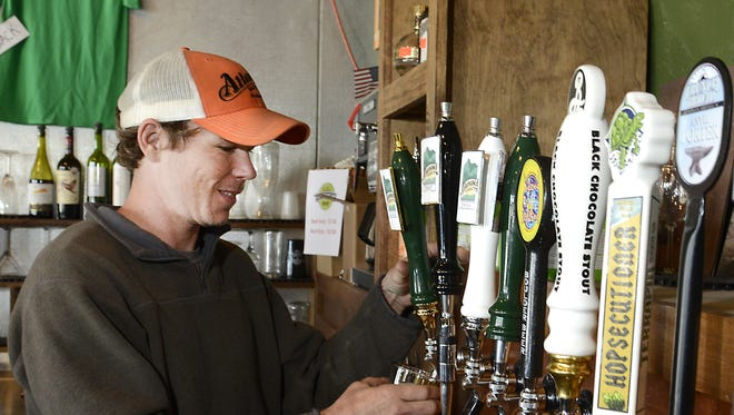 Altamont Brewing brewer Gordon Kear at the West Asheville Brewery and tasting room.