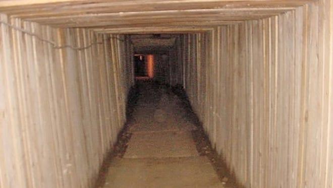 A drug tunnel found beneath the U.S.-Mexico border.