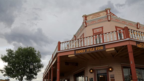 The shops and eateries along Allen Street in Tombstone, Ariz., cater to tourists who want a Wild West experience.