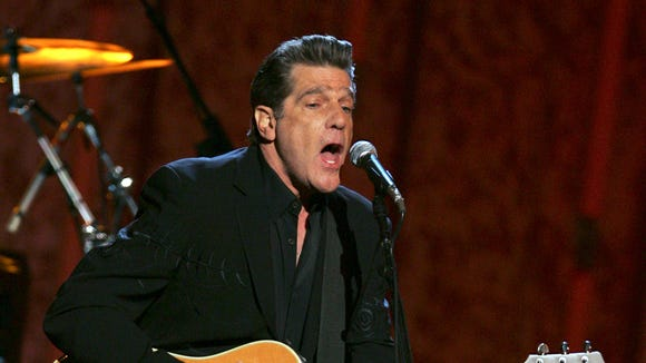 Glenn Frey of the Eagles performs during the 41st Annual Country Music Association Awards, Wednesday, Nov. 7, 2007, in Nashville, Tenn.