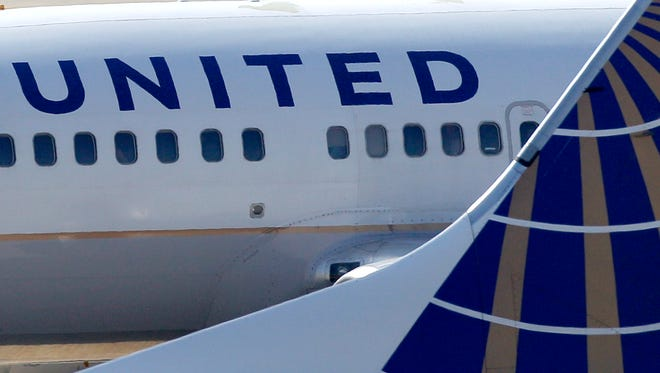 This file photo from Sept. 13, 2011,shows United aircraft at Cleveland Hopkins International Airport.