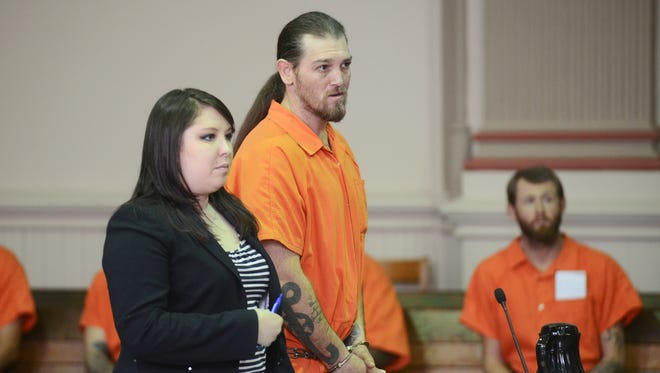 Timothy R. Matson entered not guilty pleas to four drug and weapons charges in common pleas court on Wednesday. Authorities reported that they arrested Matson with $105,000 worth of heroin, the largest such seizure in county history.