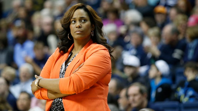 Former Prairie View A&M Lady Panthers head coach Dawn Brown.