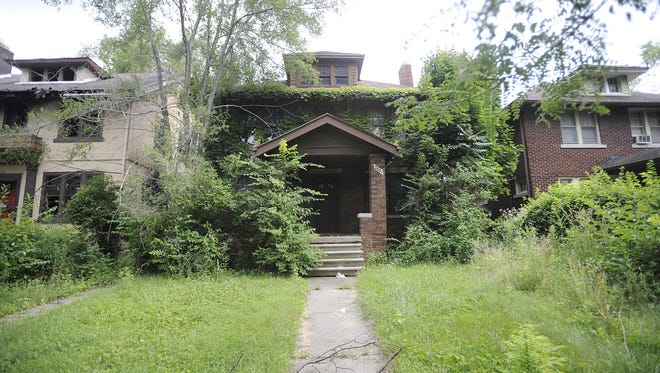 A foreclosed home in Detroit in 2015.