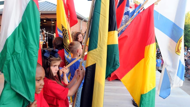 French immersion students from Myrtle Place Elementary participate in a previous Festival International.