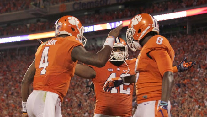 Clemson quarterback Deshaun Watson (4) and the Tigers travel to face Boston College in an ACC matchup Friday night