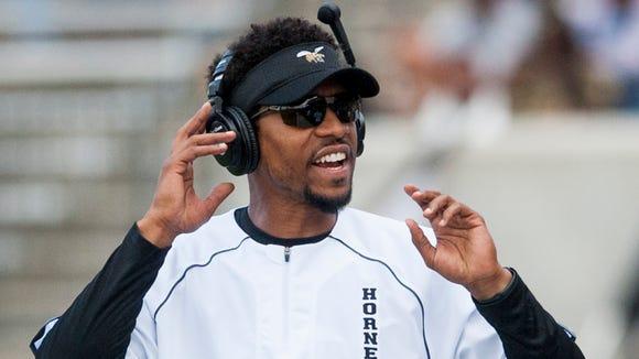 Alabama State assistant head coach Allen Stuber leads