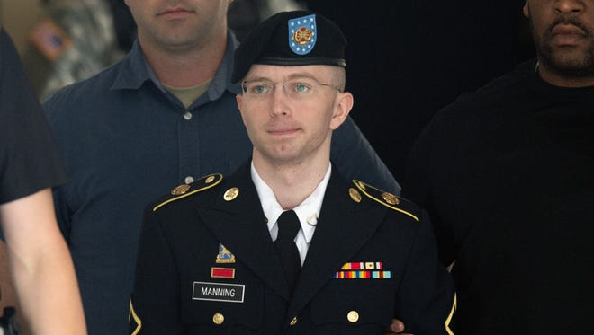 Bradley Manning, now known as Chelsea Manning, in Fort Meade, Md., on July 30, 2013.