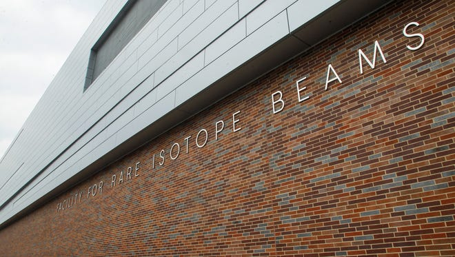 An exterior shot of the Facility for Rare Isotope Beams at Michigan State University as seen on Wednesday.