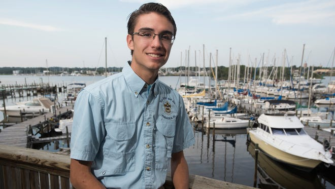 Braxton Page, a Sea Scout member, enjoys being part of the organization. As a member of Sea Scout Ship, 609  Page has learned about sailing and a variety of other seafaring activities.