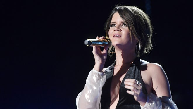Maren Morris performs at Nissan Stadium on the third day of CMA Music Fest on June 10, 2017.