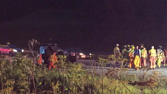 Emergency medical service crews from several Washington County fire departments as well as Flight for Life responded to a crash Sunday, July 8, on Interstate 41 that resulted in the death of an 18-year-old West Allis man.