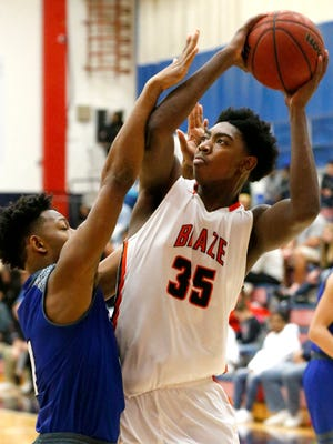 Blackman's Brandon Thomas scored 39 points in two region wins and is a nominee for area boys player of the week for Feb. 26-March 3.