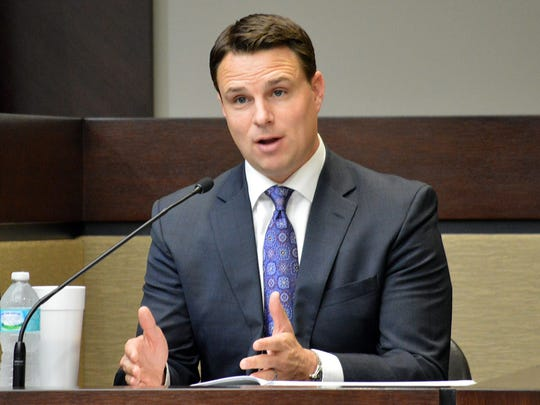 Florida House Speaker Will Weatherford, R-Wesley Chapel, testifies during a redistricting trial at the Leon County Circuit Court in Tallahassee, May 20, 2014.