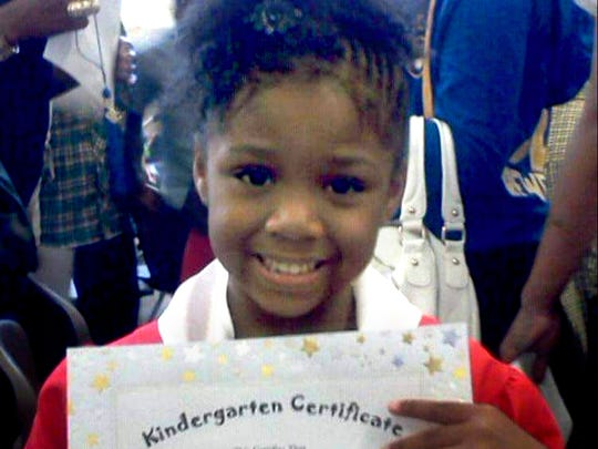 Za'Layia Jenkins, 9, was shot in the head inside her home by gunfire from a street gunfight in May 2016.