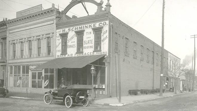 H. Schminke Company, located near what is now the corner of Fourth and Market Streets.