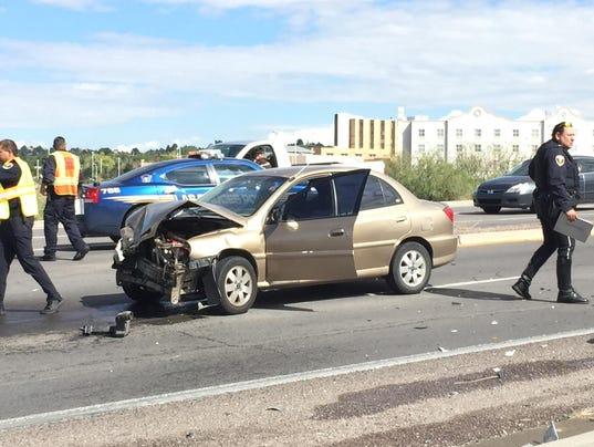 Crash on University Avenue in Las Cruces