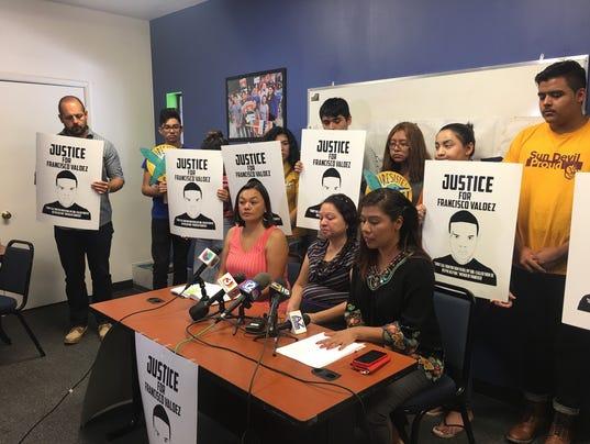 Lorenza Valdez calls for release of police report regarding son's death