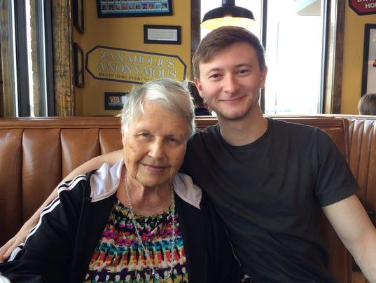 Zac Jones and grandmother