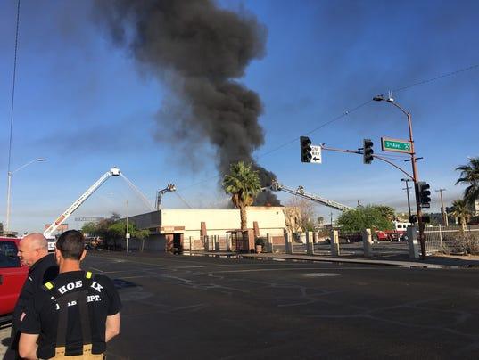 Fire on 5th Avenue and Van Buren Street