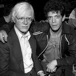 Legendary artists Lou Reed and Andy Warhol.