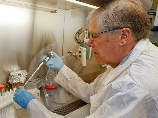 Dr. George Carlson, director of the McLaughlin Research Institute, focuses his research on Alzheimer's disease.