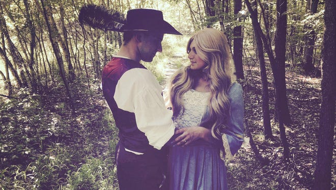 """Mickey Woyshner and Tiffany Jhingoor star in Theatron Productions' """"The Robber Bridegroom."""""""