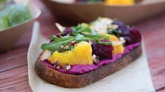 Beet Tartine is among the samplings on the menu of 'A Taste of Whole Foods Market.'