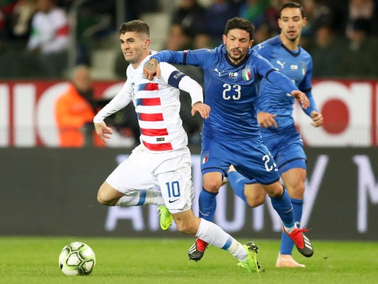 Pulisic captains US in Sarachan finale, 1-0 loss to Italy