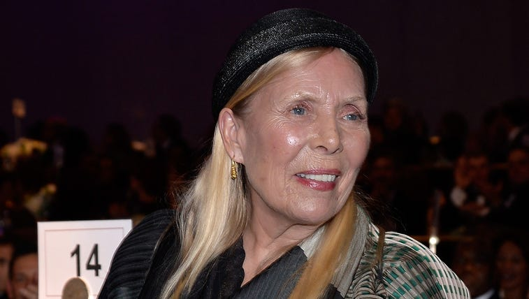 Recording artist Joni Mitchell attends the pre-Grammy