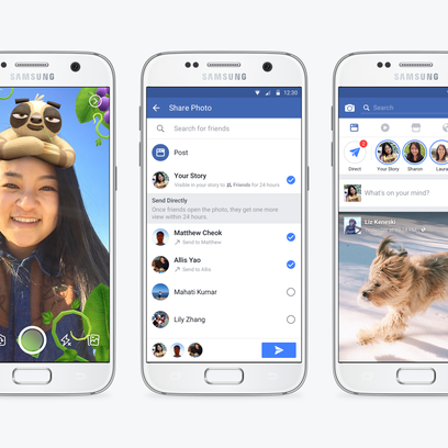 Facebook on Tuesday began rolling out Stories, which