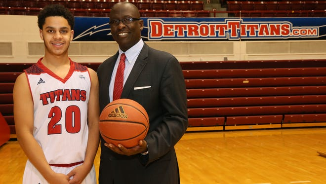 First-year UDM coach Bacari Alexander likes the long-range potential of freshman Jacob Joubert of Farmington Hills.