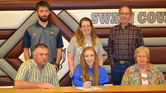 Swain County senior Taylor Medlin has signed to play college basketball for Mars Hill.