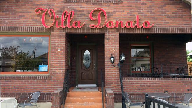 The new Villa Donato on Center Street takes its name from Donato Partipilo, a longtime local Italian chef.