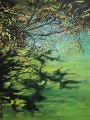 """Marlene De Waele-DeBock, """"Centennial Park,"""" 2017, acrylic"""