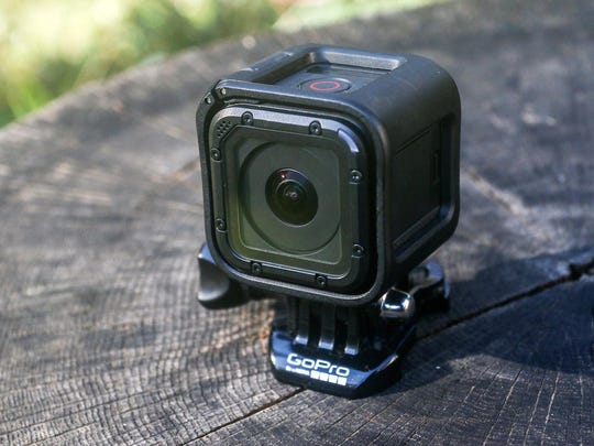 The waterproof, cube-shaped GoPro Hero4 Session action camera is capable of recording full high-defintion video and is half the size of previous models.