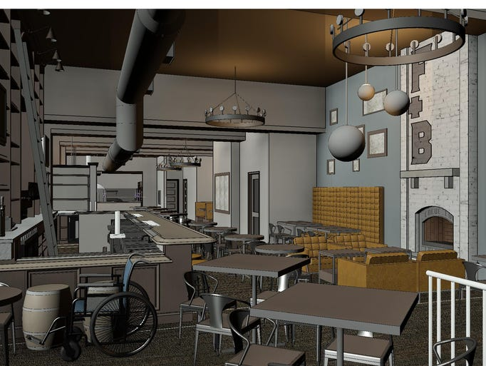 This is a rendering for The Fig and Barrel, a new restaurant