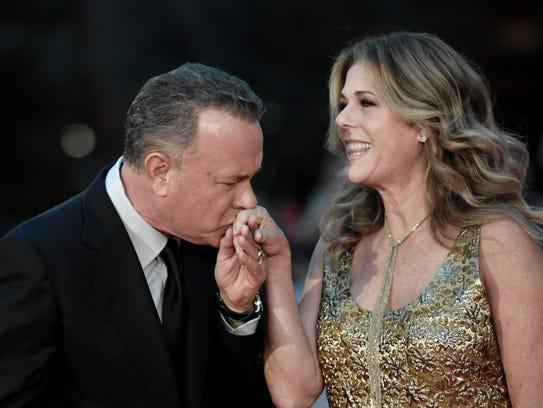 Tom Hanks says Rita Wilson will still stop to watch