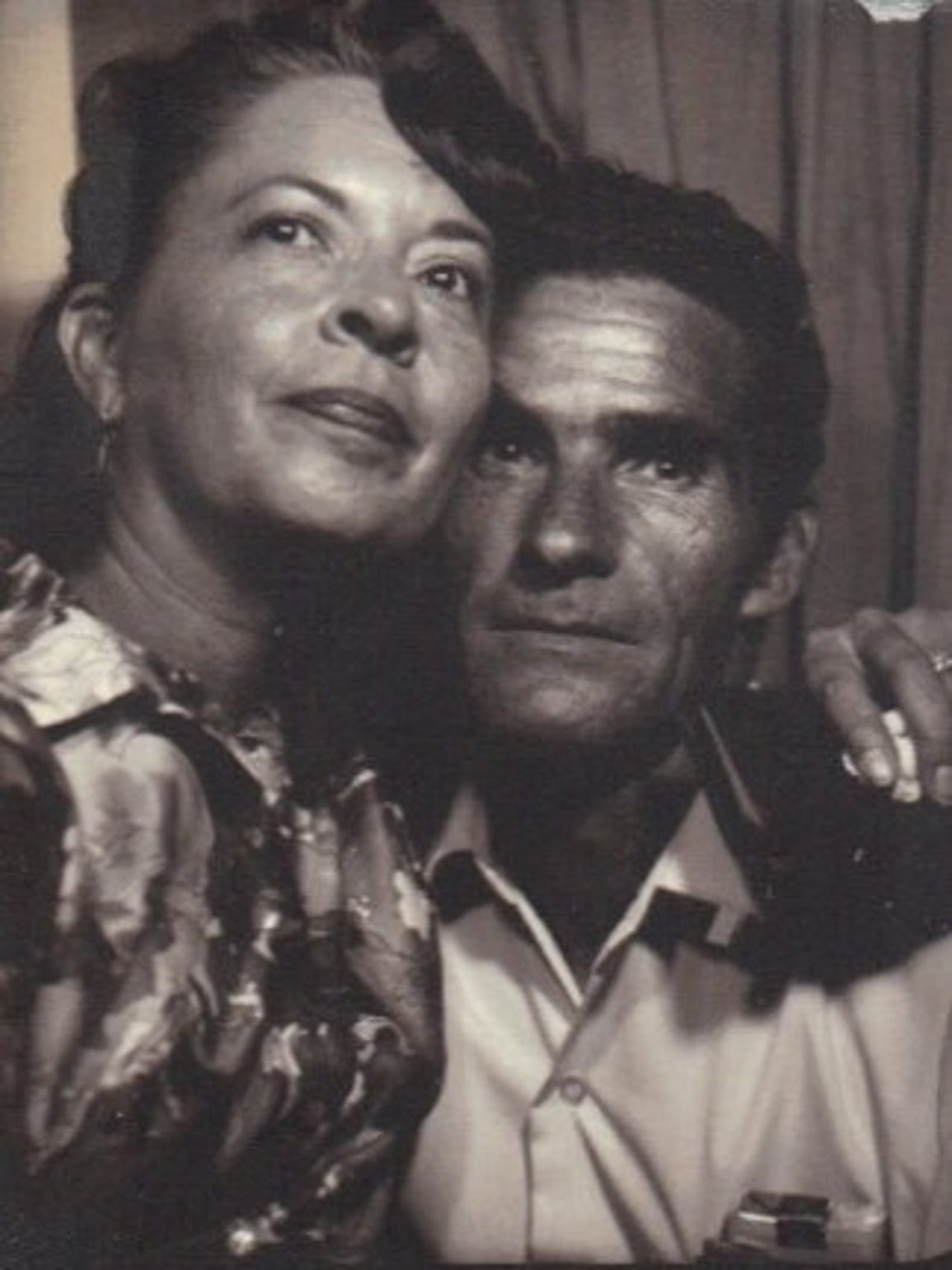 Marjorie Sansom is pictured with her husband, Hershell