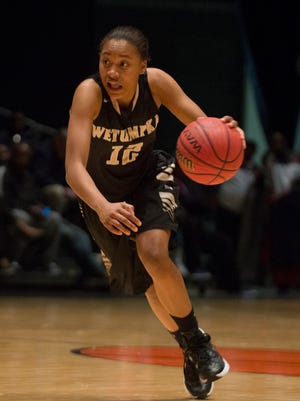Zipporah Broughton, a Wetumpka transfer, is already fitting in with the Robert E. Lee girls basketball team.