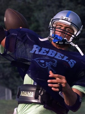 Brennan Carney, shown in this 1999 file photo, is among the inductees in this year's South Burlington athletic hall of fame class. Carney is the head coach of the Burlington football team.