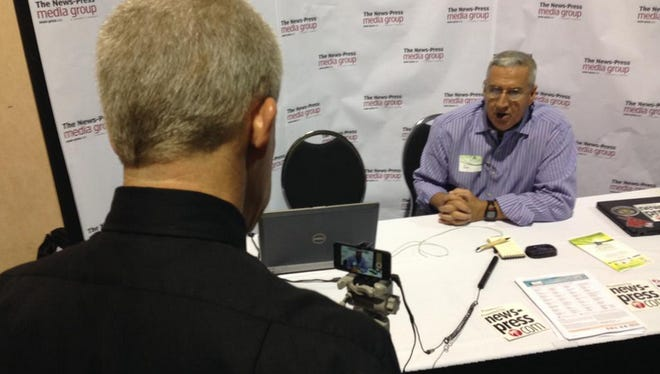 Joe Mazurkiewicz, president of BJM Consulting, shares a strong message on the Florida State Legislative impasse, while Senior Engagement Editor Tom Hayden records on his camera.