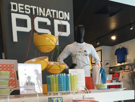 Many souvenirs at Destination PSP promoting the region