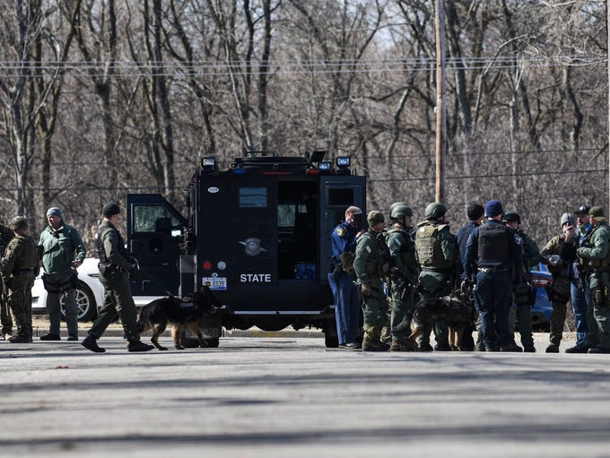 Law enforcement, including the Michigan State Police