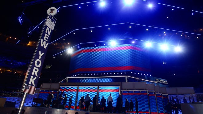 New York State is front and center for the Democratic National Convention at the Wells Fargo Arena in Philadelphia.