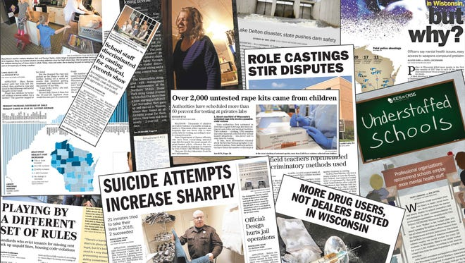 A collection of 2017 newspaper clips from USA TODAY NETWORK-Wisconsin publications.
